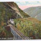 NH Willey Brook Bridge Crawford Notch Vintage Postcard White Mountains