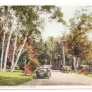 Birches Hotel Aspinwall Lenox MA Old Car Vintage Postcard
