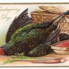 RJ Wealthy Vintage Thanksgiving Postcard Embossed Turkey Tuck