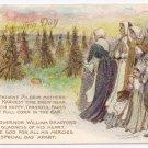 Lounsbury Pilgrims Vintage Thanksgiving Postcard