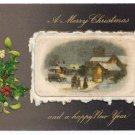 Winsch Silk Inset Vintage Christmas Postcard