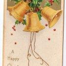 Clapsaddle Bells 1907 Vintage Christmas Postcard