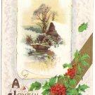 John Winsch 1910 Mill Scene Vintage Christmas Postcard