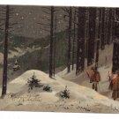 Walking to Church Vintage Christmas Postcard 1906 UND