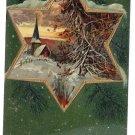 Snowy Church Scene Embosssed 1908 PFB Vintage Christmas Postcard