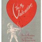 Cupid Heart Vintage Valentine Postcard Nash 1914