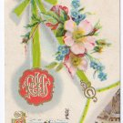 Christmas Rose Vintage Postcard 1910