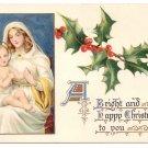 Madonna and Child Tuck Vintage Christmas Postcard
