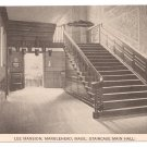 Marblehead MA Lee Mansion Staircase Vintage Postcard