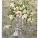 Snowdrops Bell Embossed Vintage Easter Postcard 1909
