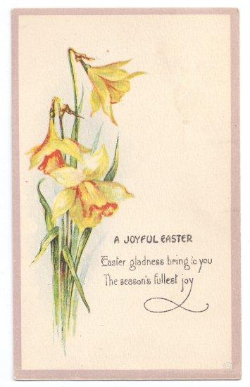 Narcissus Daffodil Vintage Easter Postcard Bergman 1921