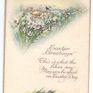 Lilies Vintage Easter Postcard Stecher 1925