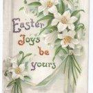 Lilies Embossed Vintage Easter Postcard IAP 1915