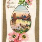 Sailboat Fishing Dock Vintage Easter Postcard 1909