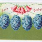 Forget me Not Eggs Vintage Easter Postcard