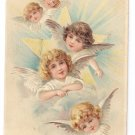 Angels Cherubs Embossed Antique Easter Postcard 1908