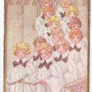 Choir Boys Arts & Crafts Vintage Easter Postcard 1913