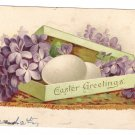 Box of Eggs and Flowers Vintage Easter Postcard 1907 Tuck