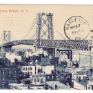 Williamsburg Bridge NY 1911 Vintage Postcard