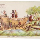 Hudson Fulton 1909 Float First Vessel Built on Manhattan Official Card no. 16 Redfield