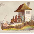 Hudson Fulton 1909 Float Bronck's Treaty Official Card no. 18 Redfield