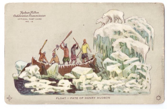 Hudson Fulton 1909 Float Fate of Henry Hudson Official Card no. 15 Redfield