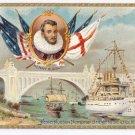 Tuck Hudson Fulton Celebration Memorial Bridge 1909 Embossed Patriotic Postcard
