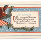 WWI Eagle Arts & Crafts Vintage Patriotic Poem Postcard