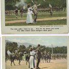 2 Vintage Patriotic Romance Postcards Soldier Goodbye Sweetheart