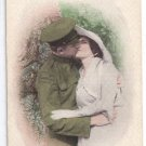 Good Bye Sweetheart Patriotic Romance Postcard WWI Soldier