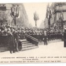 WWI Paris July 4 1918 Vintage Postcard Independence Day in France
