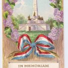 Decoration Day Embossed Gilt lincoln Memorial Monument Patriotic Postcard