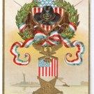 Memorial Day GAR Embossed US Flag Patriotic Postcard