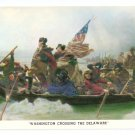 Washington Crossing The Delaware Vintage 1975 Patriotic Postcard
