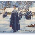 George Washington Valley Forge Curteich Linen 1950