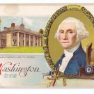 George Washington Mt. Vernon Eagle Embossed Vintage Patriotic Postcard