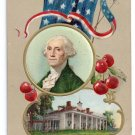 George Washington Mt. Vernon Embossed Vintage Patriotic Postcard