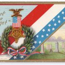 Lest We Forget Decoration Day GAR Vintage Patriotic Postcard