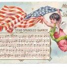 Angel Star Spangled Banner Memorial Day Vintage Patriotic Postcard