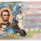 Lincoln Centennial 1908 Vintage Patriotic Postcard Lincoln's Birthday