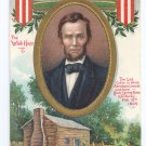 Lincoln Log Cabin A/S C. Chapman Tuck Vintage Patriotic Postcard