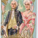 George Martha Washington Embossed Vintage Patriotic Postcard
