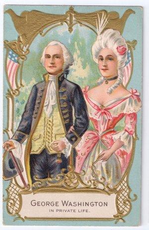 George Martha Washington Embossed Vintage Patriotic Postcard