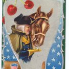 George Washington Horse Embossed Vintage Patriotic Postcard