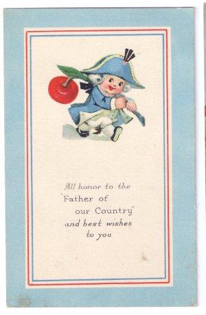 George Washington's Birthday Vintage Arts and Crafts Patriotic Postcard