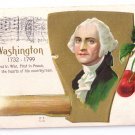 George Washington's Birthday Hatchet Vintage Patriotic Postcard