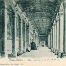 Baden Baden Saulengang in dem Trinkhalle Vintage Postcard Germany