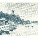 Chicago Boat House Humboldt Park Boats Vintage Postcard IL
