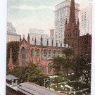 Trinity Church New York Vintage Postcard ca 1910 Leighton