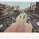 Bowery New York Vintage Postcard ca 1910 Leighton NM